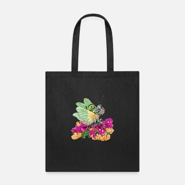 Original White and Green Butterfly Praying Mantis - Tote Bag