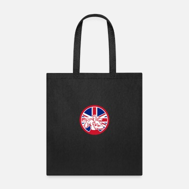 Great Britain British Drainlayer Union Jack Flag Icon - Tote Bag