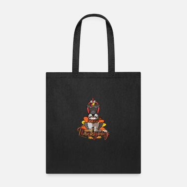 Happy Face Happy Thanksgiving Miniature Schnauzer Turkey Dog - Tote Bag