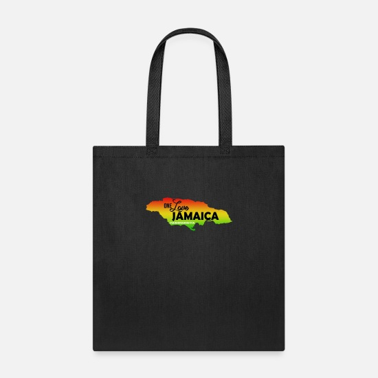 Rasta Bags & Backpacks - ONE Love JAMAICA - Tote Bag black