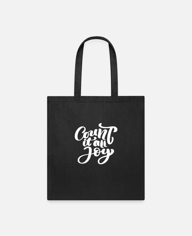 Schland Bags & Backpacks - Count It All Joy - Tote Bag black