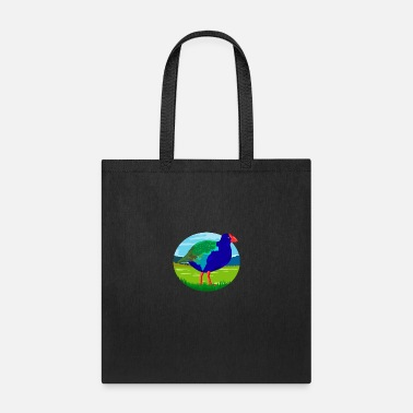 New Zealand South Island Takahe Bird Oval Retro - Tote Bag