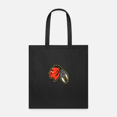 Iroquois Mohawk Brave Warrior Head Side Mascot - Tote Bag