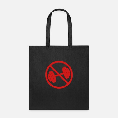 Clip Art forbidden shield weight lifting dumbbell sweat exe - Tote Bag