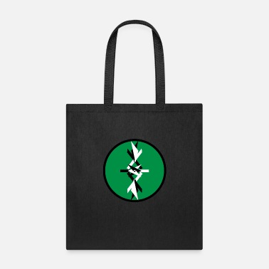 The Yin Yang abstract (green background) - Tote Bag