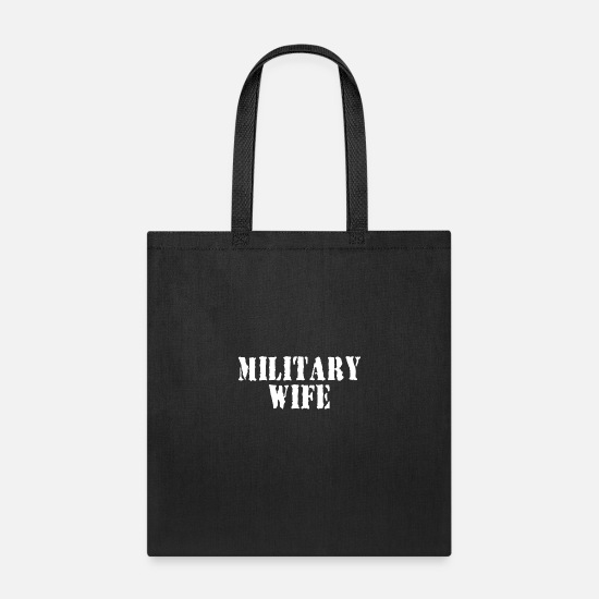 Love Bags & Backpacks - Military wife 01 - Tote Bag black