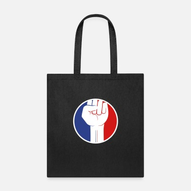Revolutionary red blue sticker circle revolution symbol fist han - Tote Bag