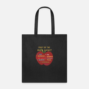Fruit of the Holy Spirit Apple - Tote Bag