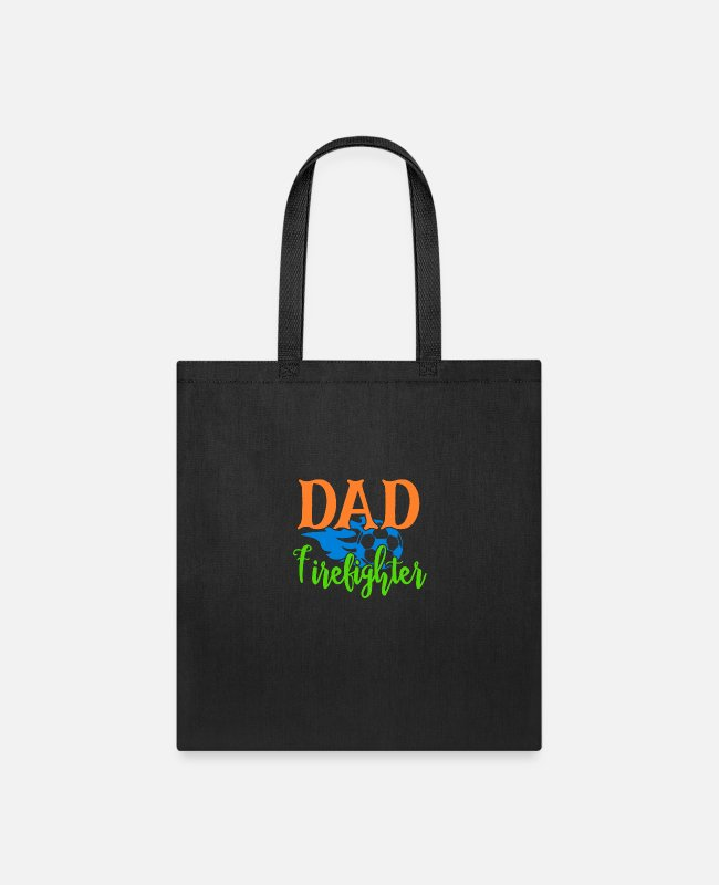 Dad To Be Bags & Backpacks - dad firefighter - Tote Bag black
