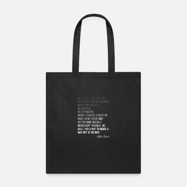Civil Rights Womens Congressman Lewis Civil Rights Hero Quote - Tote Bag