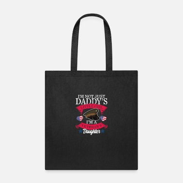 Michigan Veteran's Daughter Not Just Daddy's Girl Veterans - Tote Bag