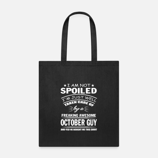 Guys Night Out Bags & Backpacks - October guy - Tote Bag black