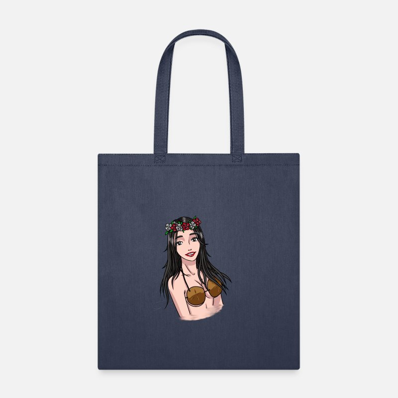 Canvas Shopping Tote Bag Everyone Loves A Nice Hawaiian Girl Girl Beach Bags for Women