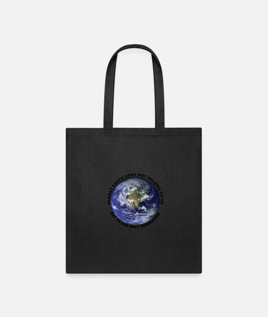 Birthday Bags & Backpacks - Planet Earth - Tote Bag black