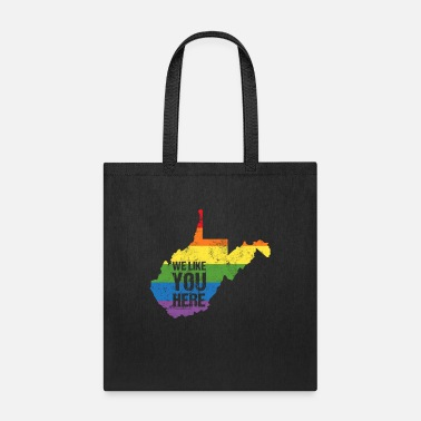 Rainbow Lgbt Wave West Virginia Rainbow Pride Clothing Gay LGBT - Tote Bag