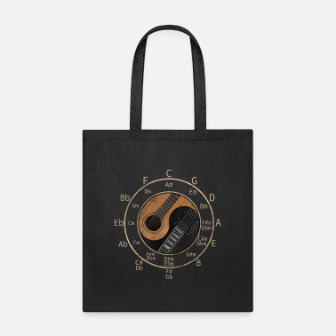 Circle Love Playing Guitar - Tote Bag