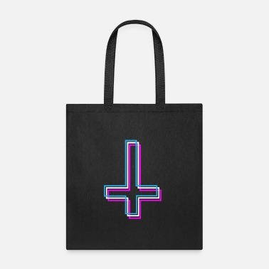Urban Inverted Cross Aesthetic Vaporwave Teen Gift - Tote Bag