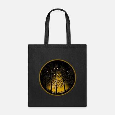 Ufo UFO Art Spaceship w. Owl - Tote Bag