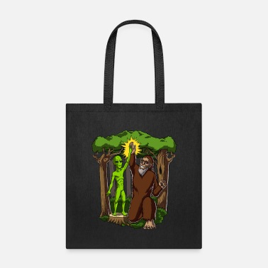 Ufo Alien Bigfoot Conspiracy - Tote Bag
