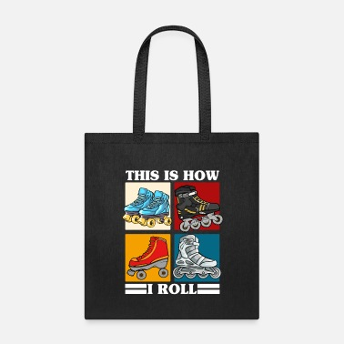 Roller Skate Roller Skating Themed Design, Rollerblades, Girls - Tote Bag