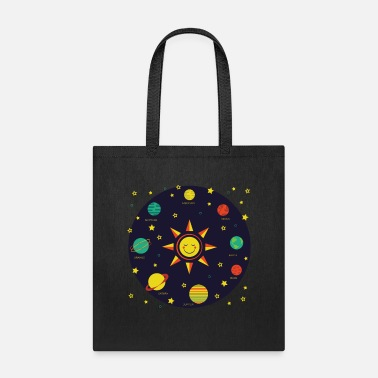 Planets Kids Solar System Planets Earth Sun Boys Girls - Tote Bag
