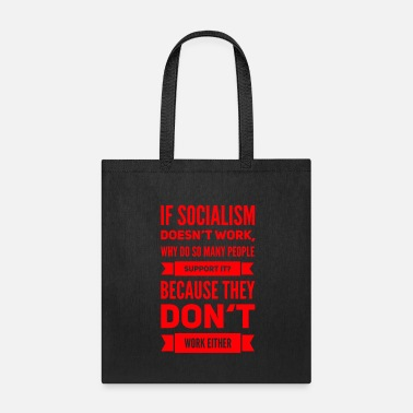 Resist socialism sucks capitalism cures conservative - Tote Bag