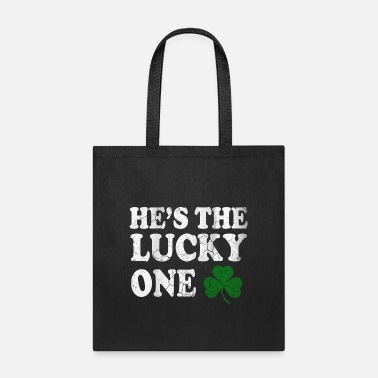 Lucky Guy Hes The Lucky One Couples St Patrick s Day - Tote Bag