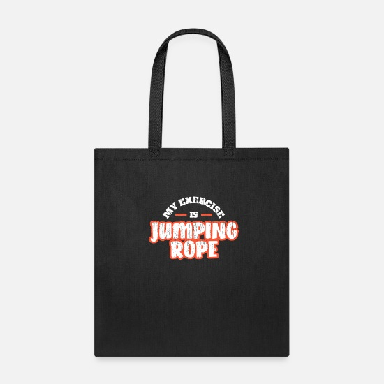 Gift Idea Bags & Backpacks - Jumping Rope Shirt - Tote Bag black