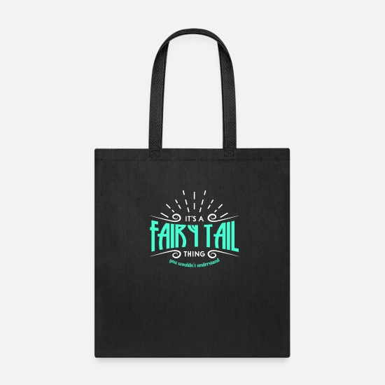 Fairy Bags & Backpacks - Fairy Tail Gift - Tote Bag black