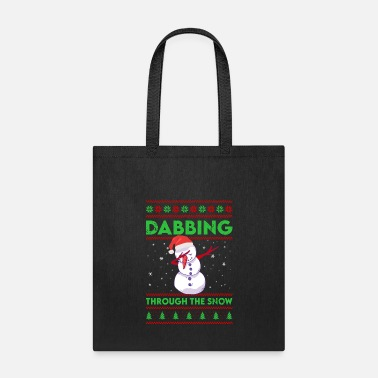 Holidays Christmas Dabbing Through The Snow Funny Holiday - Tote Bag