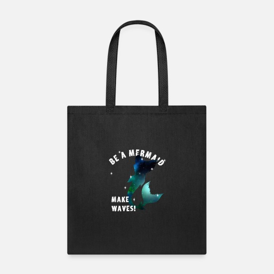 Love Bags & Backpacks - mermaid women under water Love proud sea Girl gift - Tote Bag black