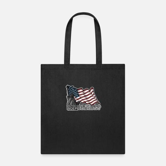 Usa Bags & Backpacks - Independence Day United States of America - Tote Bag black