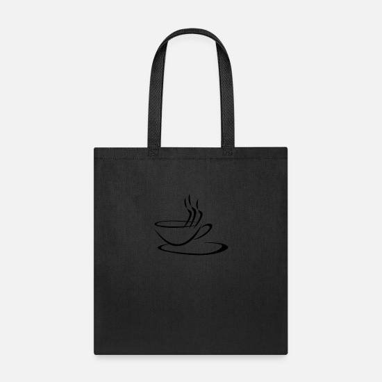 Latte Macchiato Bags & Backpacks - Coffee Latte Macchiato Cappuccino - Tote Bag black
