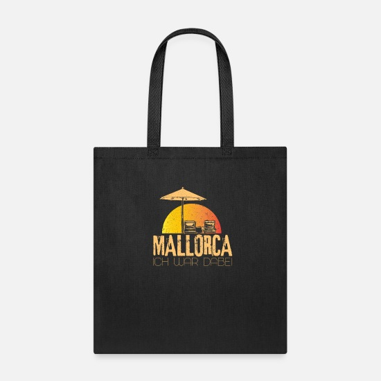 Man Bags & Backpacks - Mallorca I was there - Tote Bag black