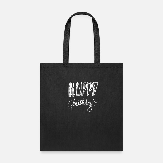 Birthday Bags & Backpacks - HAPPY BIRTHDAY - Tote Bag black
