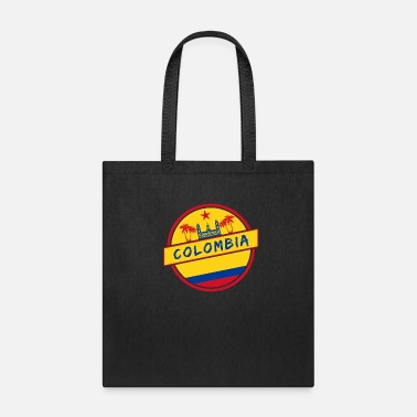 National Colombia Design with National Flag - Tote Bag
