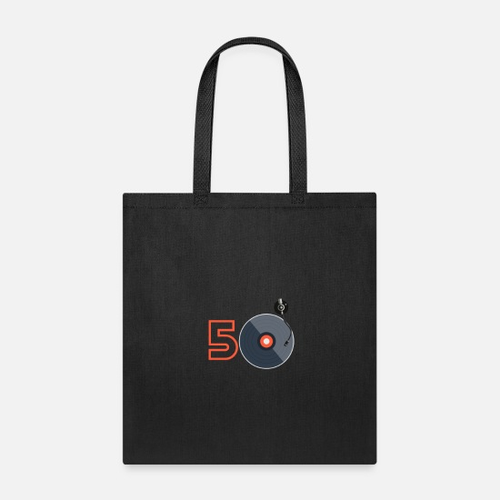 50th Birthday Bags & Backpacks - Birthday shirts 50th Birthday - Tote Bag black