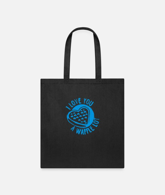 I Love Bags & Backpacks - I Love you A Waffle Lot funny tshirt - Tote Bag black