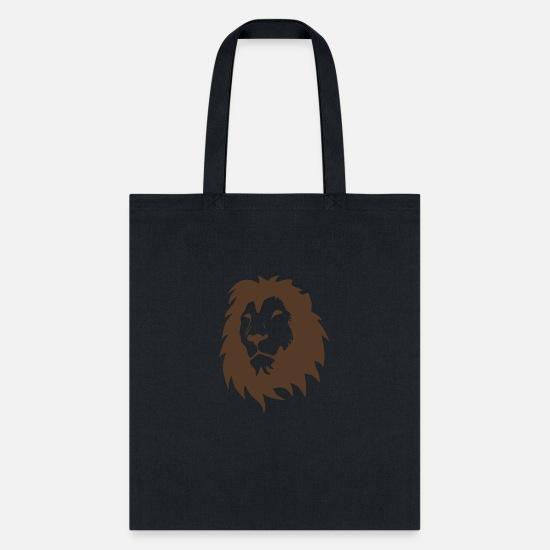 e44b020219cf Lion Head Silhouette funny tshirt Tote Bag   Spreadshirt