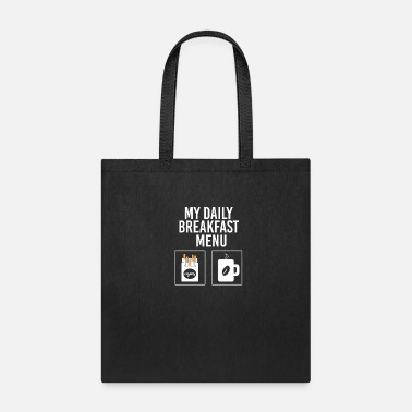 Coffee Smoker breakfast - coffee and cigarettes - Tote Bag