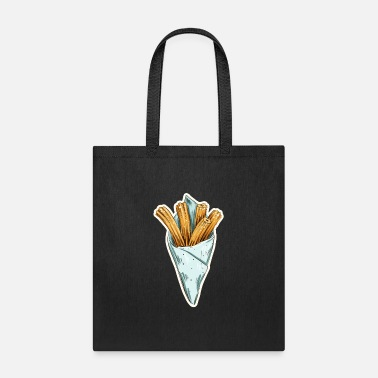Spanish Churro heart spanish pastries love fat pastries - Tote Bag