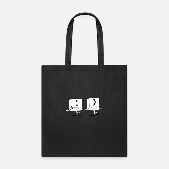 Key Bags & Backpacks - key smile - Tote Bag black