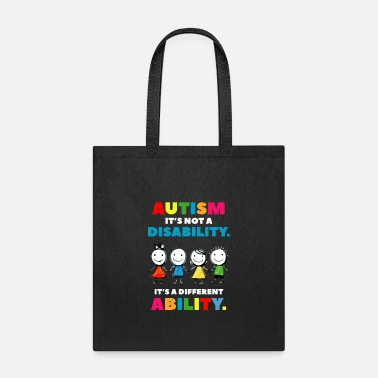 Different Autism it s not a Disability Autism Awareness Day - Tote Bag