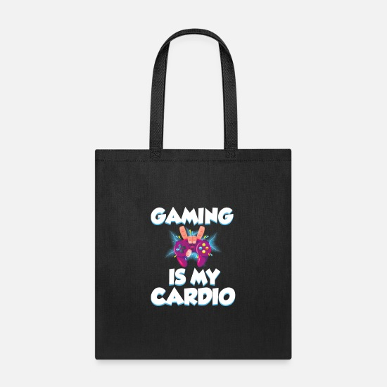 Gaming Bags & Backpacks - Gaming is my cardio - Tote Bag black