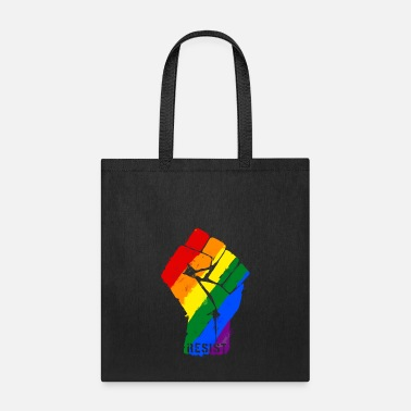 Resist Rainbow Flag Fist LGBT - Tote Bag
