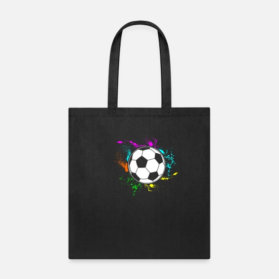 Gift Idea Bags & Backpacks - Soccer football Gift Gift idea Soccer Team - Tote Bag black