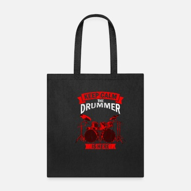 Rock Band the drummer is here percussionist,music, instrumen - Tote Bag
