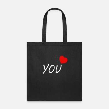 Red You with heart - Tote Bag