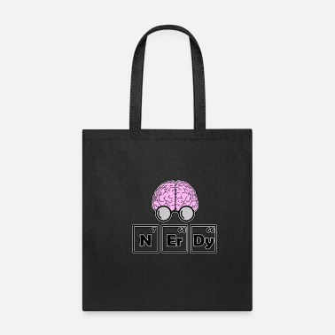 Nerdy - periodic table with brain - Tote Bag