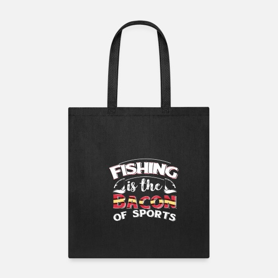 Photographer Bags & Backpacks - Fishing Fisherman Funny Gift - Tote Bag black